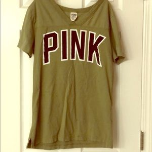 VS Pink tee small worn once